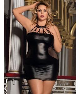 Sextoys, sexshop, loveshop, lingerie sexy : Lingerie sexy grande taille : Mini Robe Sexy noir XL