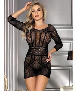 Sextoys, sexshop, loveshop, lingerie sexy : Robes sexy : Robe résille noir sexy TU