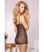 Sextoys, sexshop, loveshop, lingerie sexy : Lingerie Style Cuir & Vinyle Femme : Déshabillé Sexy noir