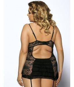 """Sextoys, sexshop, loveshop, lingerie sexy : Lingerie sexy grande taille : Sexy Ensemble à jarretelles Dentelle Noir Sexy """"XL"""""""