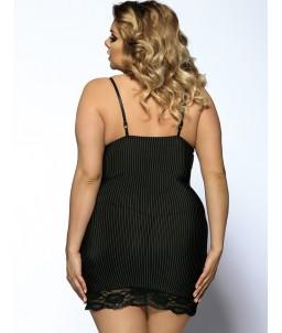 "Sextoys, sexshop, loveshop, lingerie sexy : Lingerie sexy grande taille : Sexy Nuisette & string Noir Sexy et Glamour ""XL"""