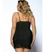 "Sextoys, sexshop, loveshop, lingerie sexy : Lingerie sexy grande taille : Sexy Nuisette & string Noir Sexy et Glamour \\""XL\\"""