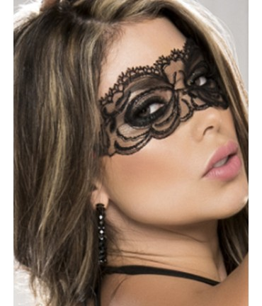 Sextoys, sexshop, loveshop, lingerie sexy : Masques : Masque sexy dentelle noir