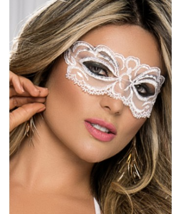 Sextoys, sexshop, loveshop, lingerie sexy : Masques : Masque sexy dentelle blanc