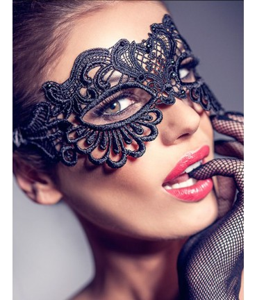 Sextoys, sexshop, loveshop, lingerie sexy : Masques : Masque noir sexy dentelle