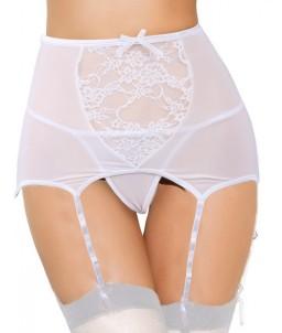 Sextoys, sexshop, loveshop, lingerie sexy : Porte jarretelles : Porte-jarretelles sexy blanc XL