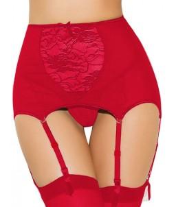 Sextoys, sexshop, loveshop, lingerie sexy : Porte jarretelles : Porte-jarretelles sexy rouge M