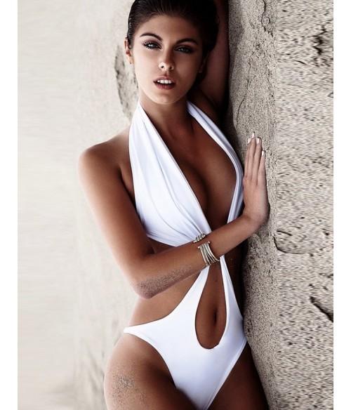 Sextoys, sexshop, loveshop, lingerie sexy : Maillot de bain et bikini : Maillot de bain sexy blanc M