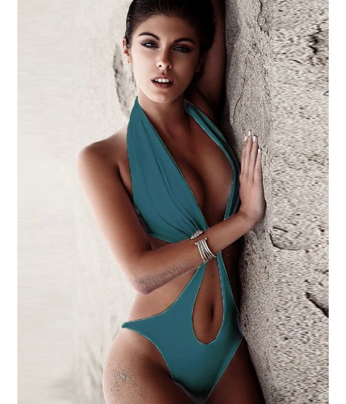Sextoys, sexshop, loveshop, lingerie sexy : Maillot de bain et bikini : Maillot de bain sexy vert M