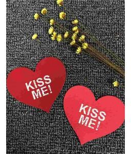 Sextoys, sexshop, loveshop, lingerie sexy : Nippies Cache Seins : Cache tétons coeur rouge kiss me