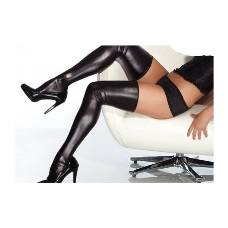 Sextoys, sexshop, loveshop, lingerie sexy : Bas & Collants : Sexy Bas Vinyle Noir