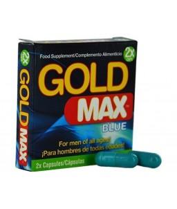 Sextoys, sexshop, loveshop, lingerie sexy : Aphrodisiaques : GOLD MAX Blue Aphrodisiaque Pour Homme X2