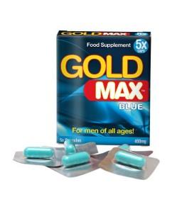 Sextoys, sexshop, loveshop, lingerie sexy : Aphrodisiaques : GOLD MAX Blue Aphrodisiaque Pour Homme X5