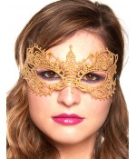 Sextoys, sexshop, loveshop, lingerie sexy : Masques : Masque doré sexy dentelle