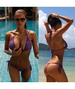 Sextoys, sexshop, loveshop, lingerie sexy : Maillot de bain et bikini : Sexy bikini violet