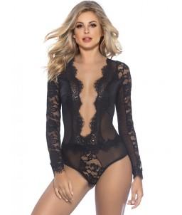 Sextoys, sexshop, loveshop, lingerie sexy : Bodys & Teddys : Body sexy noir dentelle S/M