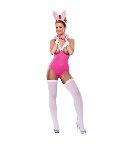 Sextoys, sexshop, loveshop, lingerie sexy : Deguisement Femme sexy : Costume sexy bunny rose M