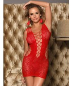 Sextoys, sexshop, loveshop, lingerie sexy : Robes sexy : Robe résille rouge sexy