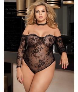 Sextoys, sexshop, loveshop, lingerie sexy : Bodys & Teddys : Sexy Body Noir Dentelle L/XL