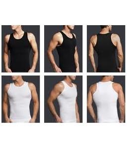 Sextoys, sexshop, loveshop, lingerie sexy : Boxers & Strings : Slim'N Lift - Débardeur Gainant Taille S Couleur Noir