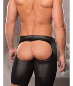 Sextoys, sexshop, loveshop, lingerie sexy : Boxers & Strings : Boxer long ouvert noir M