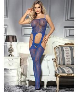 Sextoys, sexshop, loveshop, lingerie sexy : Combinaisons : Combinaison dessous sexy bleue