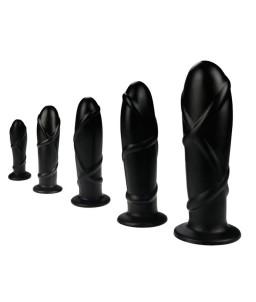 Sextoys, sexshop, loveshop, lingerie sexy : Les Coffrets : Pack de 5 Plug Anal black su XS au XL
