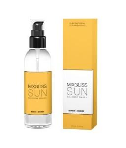 Sextoys, sexshop, loveshop, lingerie sexy : Lubrifiant à base de Silicone  : Lubrifiant MixGliss Sun Senteur Monoï