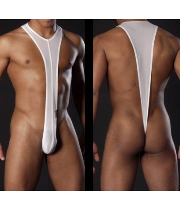 Sextoys, sexshop, loveshop, lingerie sexy : Lingerie sexy grande taille : Body sexy string blanc XL