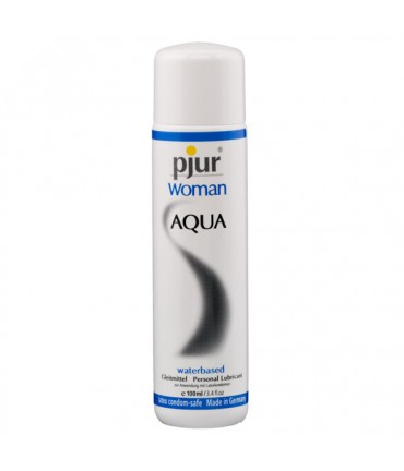 Sextoys, sexshop, loveshop, lingerie sexy : Lubrifiants à Base d'Eau : Pjur woman aqua Lubrifiant 100ml