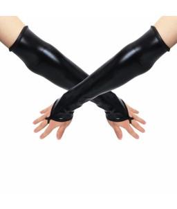 Sextoys, sexshop, loveshop, lingerie sexy : gants sexy : Gants long vinyle noir