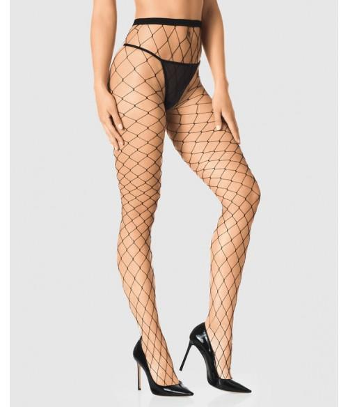 Sextoys, sexshop, loveshop, lingerie sexy : Bas & Collants : Sexy Collant Résille Grande Maille Noir