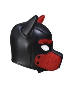 Sextoys, sexshop, loveshop, lingerie sexy : Cagoules SM : Cagoule bdsm masque de chien noir et rouge