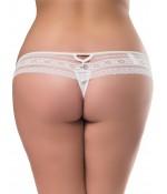 Sextoys, sexshop, loveshop, lingerie sexy : Lingerie sexy grande taille : String sexy dentelle Blanc XL