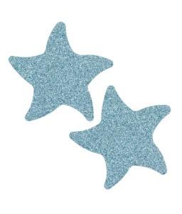 Sextoys, sexshop, loveshop, lingerie sexy : Nippies Cache Seins : Cache tétons étoile de mer pailleté bleu
