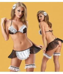 Sextoys, sexshop, loveshop, lingerie sexy : Deguisement soubrette sexy : Costume soubrette sexy S/L