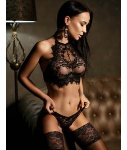 Sextoys, sexshop, loveshop, lingerie sexy : Ensemble lingerie sexy : Ensemble Lingerie sexy noir dentelle S/M