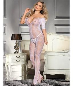 Sextoys, sexshop, loveshop, lingerie sexy : Combinaisons : Combinaison résille Blanche sexy