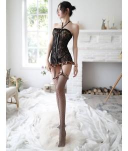 Sextoys, sexshop, loveshop, lingerie sexy : Deguisement Femme sexy : Costume sexy Léopart S/M