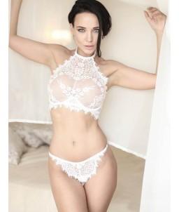 Sextoys, sexshop, loveshop, lingerie sexy : Ensemble lingerie sexy : Ensemble Lingerie sexy blanc dentelle S/M