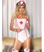 Sextoys, sexshop, loveshop, lingerie sexy : Deguisement Femme sexy : Costume Sexy body Infirmière S/M