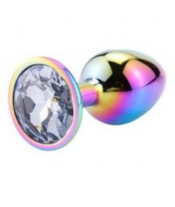 Sextoys, sexshop, loveshop, lingerie sexy : Rosebud - bijou anal : Bijou anal Rosebud Rainbow LARGE Diamant