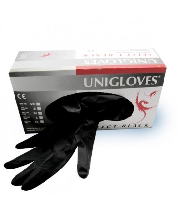 Sextoys, sexshop, loveshop, lingerie sexy : Santé-Beauté-Hygiène : Gants latex noir unigloves M par 100