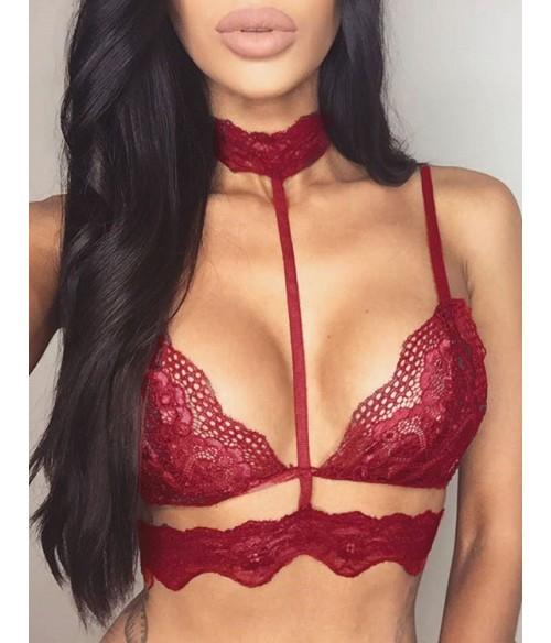 Sextoys, sexshop, loveshop, lingerie sexy : Ensemble lingerie sexy : Séduisant Soutien-gorge à dentelle rouge 2XL