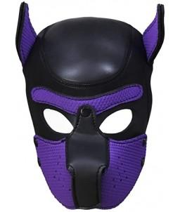 Sextoys, sexshop, loveshop, lingerie sexy : Cagoules SM : Cagoule chien bdsm violet