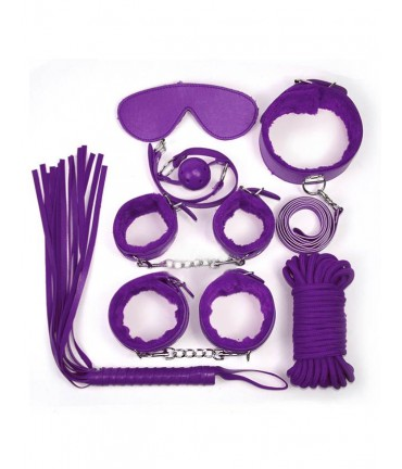 Sextoys, sexshop, loveshop, lingerie sexy : Kit BDSM : Ensemble Fetish violet BDSM