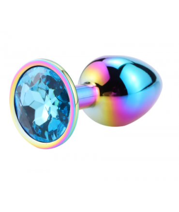 Sextoys, sexshop, loveshop, lingerie sexy : Rosebud - bijou anal : Bijou anal Rosebud Rainbow SMALL Bleu clair