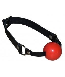 Sextoys, sexshop, loveshop, lingerie sexy : Baillons : Baillon boule silicone rouge tendre