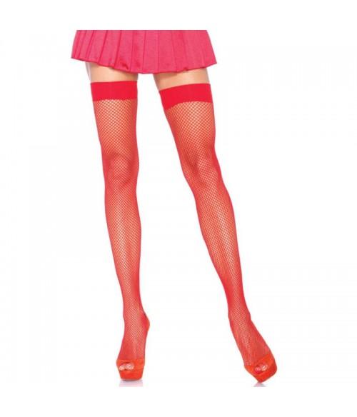 Sextoys, sexshop, loveshop, lingerie sexy : Bas & Collants : Leg avenue- Sexy Bas Résille Rouge