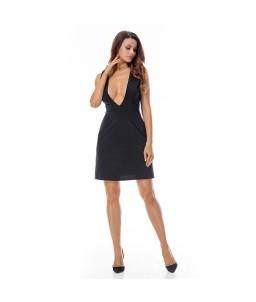 Sextoys, sexshop, loveshop, lingerie sexy : Robes sexy : Robe sexy noire décolleté S